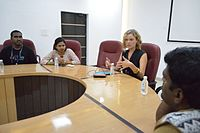 Katherine Maher Meets with Wikimedians - Wiki Conference India - CGC - Mohali 2016-08-05 7195.JPG