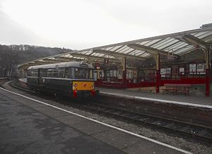 Keighley and Worth Valley Railway - Keighley Station on the KWVR