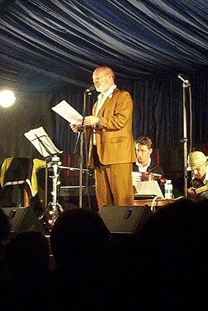Keith Allen (actor) - Allen on stage in 2009