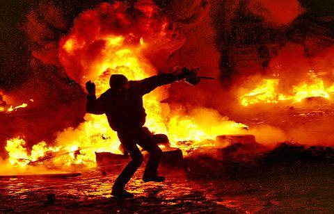 Київ, вул. Грушевського, 22 січня 2014