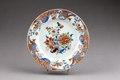 Kinesisk blommig porslins tallrik från 1735-1795 - Hallwylska museet - 95832.tif
