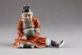 Kinesisk figur föreställande Chung Kuei han ansågs besitta kraft att fördriva onda andar - Hallwylska museet - 95984.tif