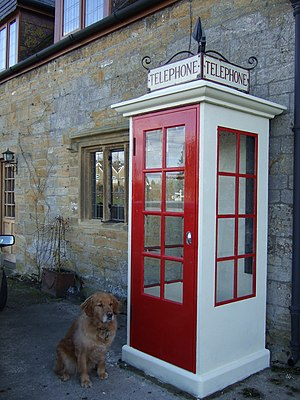Red telephone box - Replica K1 Mk236 telephone kiosk in Tintinhull, Somerset