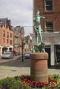 Statue of Peter Pan in Kirriemuir