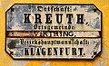 Klagenfurt Viktring Kreuth altes Ortsschild 12032009 77.jpg