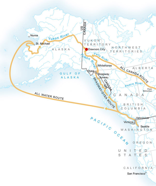 Klondike Karte