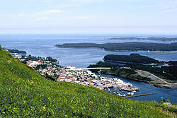 View of Kodiak from Pillar Mountain, 2006