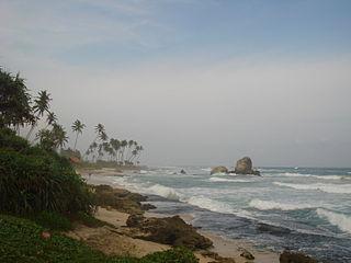 Koggala Town in Southern Province, Sri Lanka