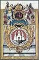 Komárom szabad királyi város címere (1745).jpg