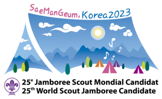 25th World Scout Jamboree - Candidacy logo for Korea