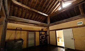Hanok - Interior of a traditional house at Jeongseon County, Gangwon Province.