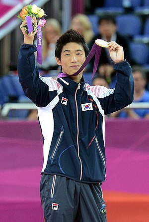 South Korea at the 2012 Summer Olympics - Yang Hak-Seon captures South Korea's first ever gold medal in artistic gymnastics.