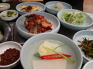 Banchan, a small dish accompanied with a main ...