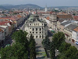 Kosice - State Theatre and Main Street.JPG