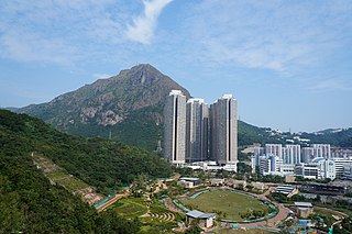 Kowloon Peak mountain in Peoples Republic of China