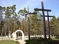 Krzyże i cmentarz polskich ofiar masakry niemieckiej w Sochach 1 czerwca 1943.jpg