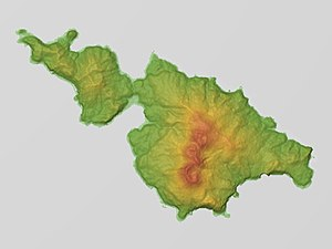 Kuchinoerabujima Relief Map, SRTM-1.jpg