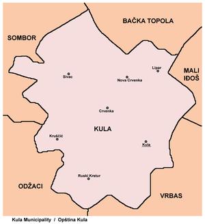ruski krstur mapa Opština Kula   Wikipedia ruski krstur mapa