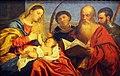 Kunsthistorisches Museum Wien, Tizian, Maria mit Kind, Hll. Stephanus, Hieronymus und Mauritius.JPG