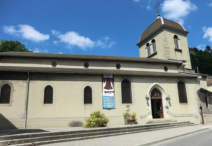 L'église Saint-Antoine de Saint-Rambert-en-Bugey.