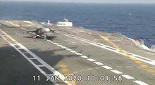 File:LCA Navy maiden landing on INS Vikramaditya.webm