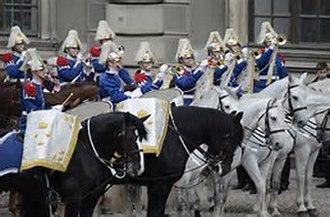 Wilhelm Friedrich Wieprecht - The Life Guards' Dragoon Music Corps on parade