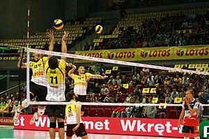 Lotos Trefl Gdańsk - Warm-up before a match with ZAKSA Kędzierzyn-Koźle on October 14, 2012.