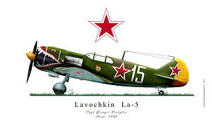 Ivan Kozhedub - Lavochkin La-5, operated in 1943–1944