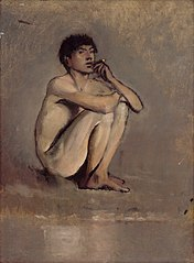 Study of a Seated Nude of a Young Man