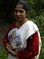 Lady mando singer from Goa before an event.jpg