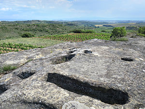 History of Rioja wine - Remains of a medieval wine press in the Rioja Alavesa