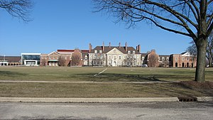 Lake Forest High School (Illinois) - View from the west