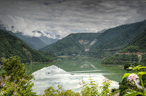 Tehri - Lake created By Tehri Dam on river Bhagirathi