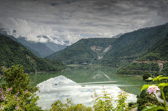 New Tehri - Lake created By Tehri Dam on river Bhagirathi