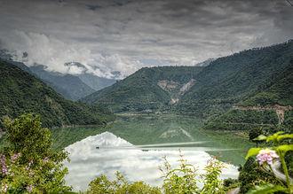Tehri - Lake created By Tehri Dam on river Bhagirathi