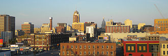 Lansing, Michigan - Image: Lansing skyline brobb 11 2009