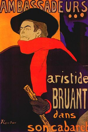 Fourth Doctor - Painting of Aristide Bruant by Lautrec, which inspired the Doctor's famous look.