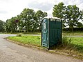 Lay-by portable toilet on Coventry Road, Sapcote, Leicestershire.jpg