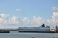 Le Havre (France) UECC ship going in port 2.jpg