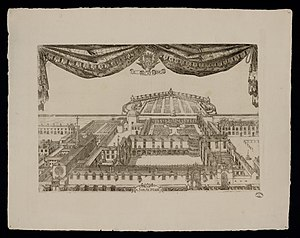 Palace of the Dukes of Lorraine - Engraving of the palace complex, 1664