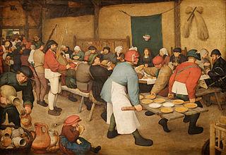Le repas de noce (Pieter Brueghel l'Ancien, 1568)