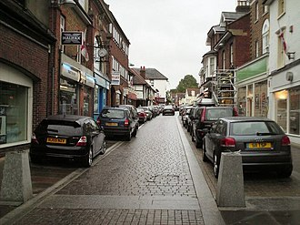 Mole Valley - Image: Leatherhead High Street geograph.org.uk 430377