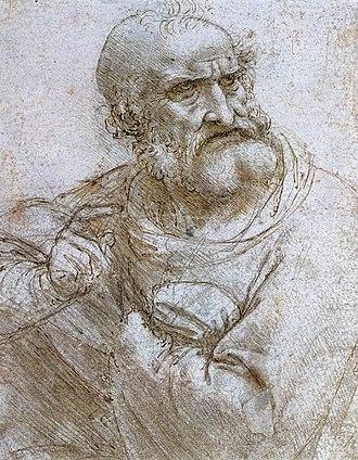Albertina - Image: Leonardo da vinci, Study for the Last Supper 2