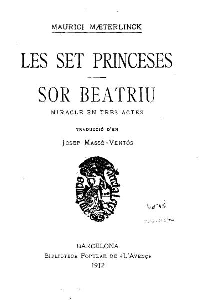 File:Les set princeses. Sor Beatriu (1912).djvu