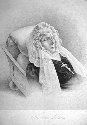 Letizia Ramolino - Deathbed portrait of Maria Letizia Bonaparte.
