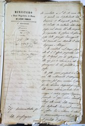 Lettera di risposta del Ministero a Savarese 18 Giugno 1858