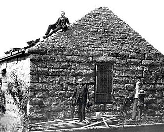 Liberty Jail - Liberty Jail in its deteriorating state in 1888