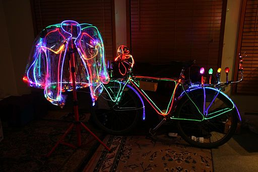 Lighted bicycle jacket