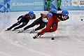 Lillehammer 2016 - Short track 1000m - Men Finals - Daeheon Hwang, Wei Ma, Shaoang Liu, Kiichi Shigehiro and Andras Sziklasi.jpg