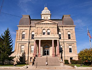 County courthouse in Lima.
